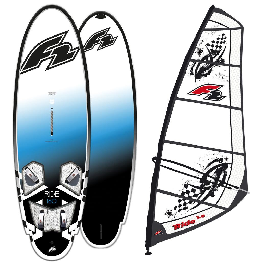 F2 RIDE 160 LITER FREERIDE WS-BOARD + Rigg 7.0